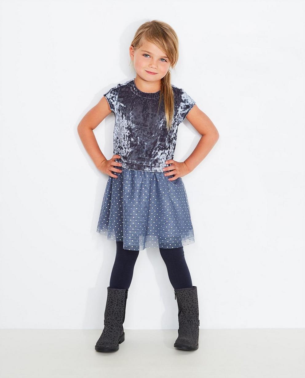 Blaugraues Samtkleid - Prinsessia - Prinsessia